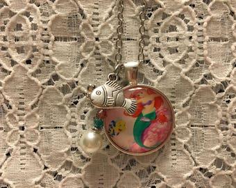 Little Mermaid Charm Necklace/Ariel Charm Necklace/Little Mermaid Jewelry/Little Mermaid/Ariel Pendant/Ariel Jewelry/Disney Princess