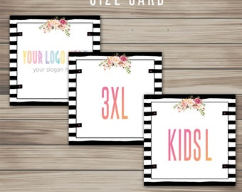Sizing Card, Instant Download, 5x5, Digital, Collection Size, Clothing Size, Marketing, For Fashion Retailer, home office approved K15H08