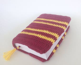 Gryffindor book cover with bookmark