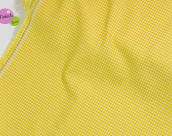 Yellow gingham 2 mm