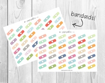 Bandaid Planner Stickers by PaperPastelCo
