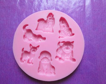 Dogs pattern for figure 3d silicone mould