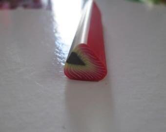 large 1 cm pattern fruit fimo cane Strawberry