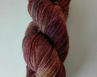 100 gram yarn with alpaca hand dyed Leberblümerl