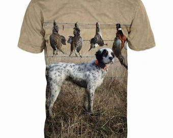New ultramodern 3D  High Quality  Hunting  Dog Mens  short Sleeve  T-shirt