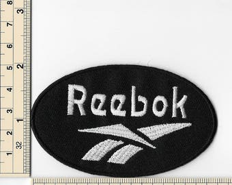 Reebok Sports Black Border Iron on Patches Embroidered Applique Badge Emblem Logo Sew Patch FREE SHIPPING