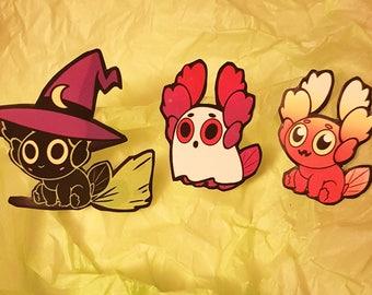 Trick or Treat Axolotl Sticker Set