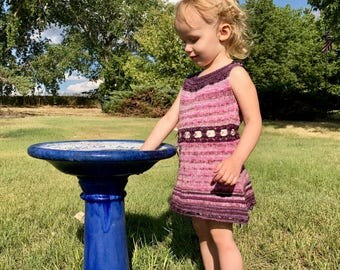 Toddler Dress with Ribbon Waist