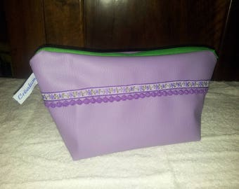 KIT PURPLE AND GREEN FAUX LEATHER