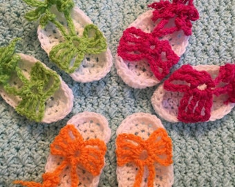 Infant Hand Crocheted Sandals