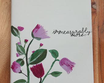 Immeasurably More, Prayer Journal, Hand Painted Notebook, Lined Pages