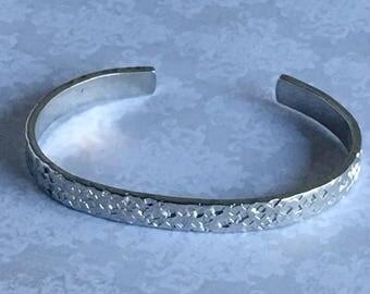Textured finish Cuff Bracelet - squares