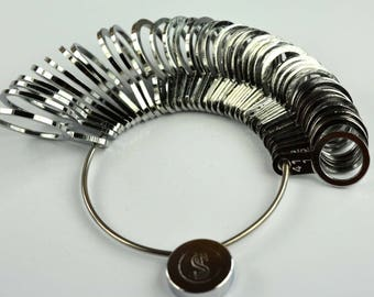 US/Europe/mm size Metal Finger Ring Sizer 36 pieces set -Important Jewelry Tool