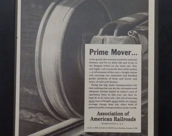 Association of American Railroads, Vintage Ad, 1951, Illustration, Railroad Enthusiasts,