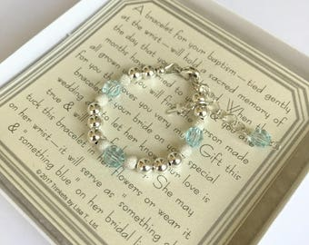 Boy Baptism to Wedding Bracelet - Baby to Adult - Keepsake Gift - Baptism Bracelet - Christening Bracelet - Baby Shower Gift - Baby Bracelet