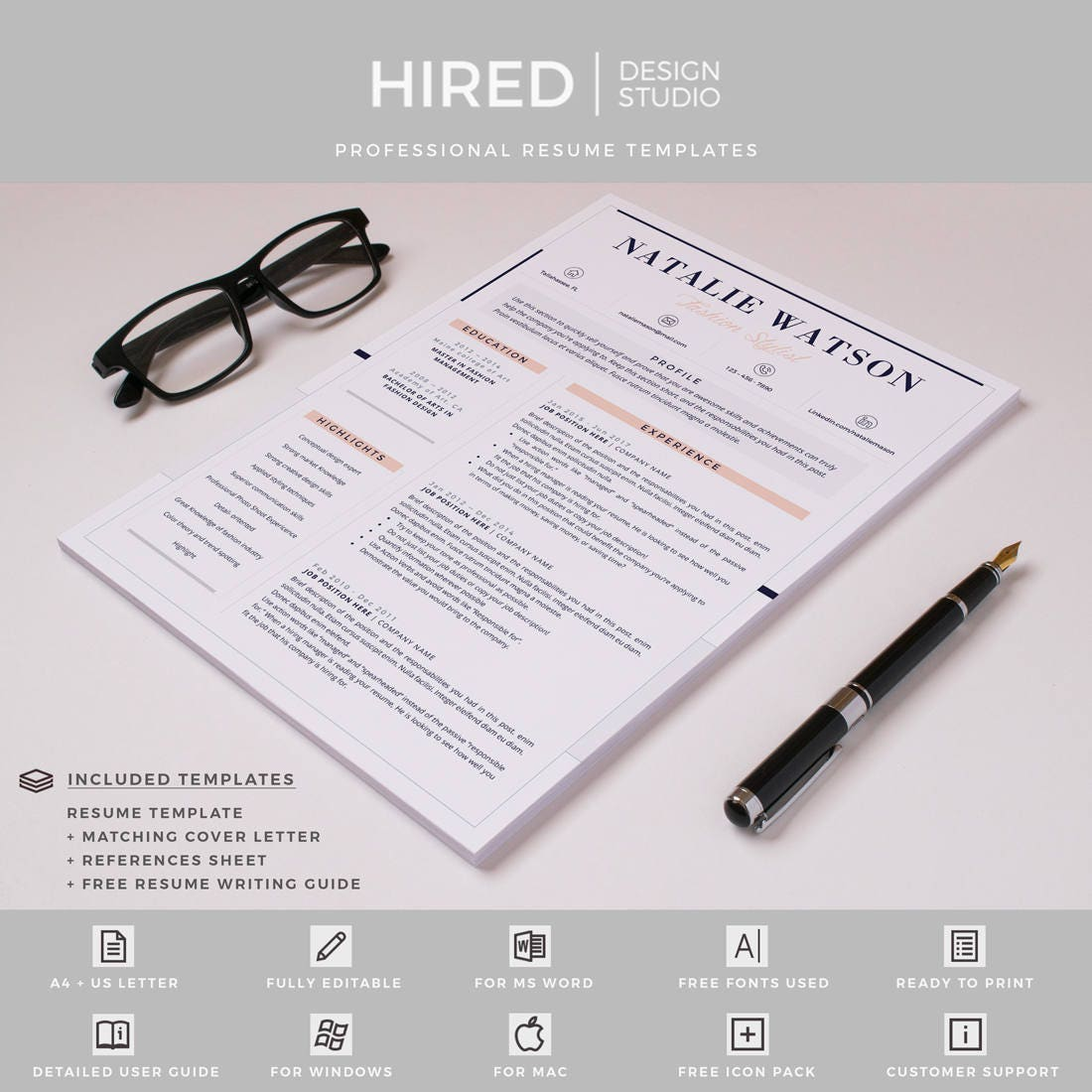 Creative & Professional Resume / CV Template | modern cv, Resume ...
