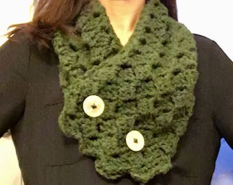 Cross Hatch Button-Up Cowl / Scarf