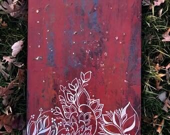 Limerence - acrylic on wood - 16x24