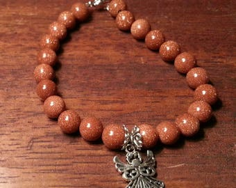 Gold sandstone angel bracelet