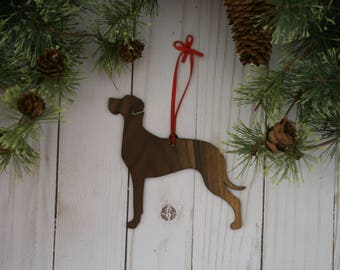 Customizable Great Dane Christmas Tree Ornament | Personalized Dog Ornament