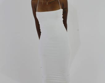 Double Layered Midi Dress