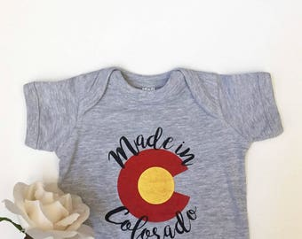 MADE IN COLORADO Baby Shower Gift Bodysuit