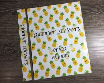 Planner Sticker Binder Cover | Personalized Binder Cover | Pineapple Binder Cover | Personalized Mini Binder Cover | 2DD0003COV