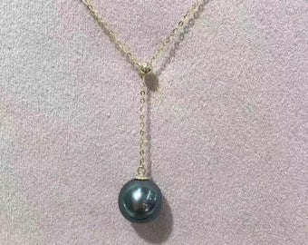 Tahitian pearl necklace, 18K Gold
