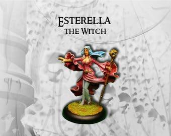 Figurine héros peinte : Esterella la magicienne