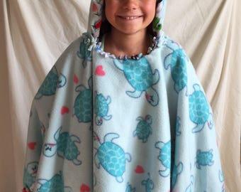 Kid size blanket poncho