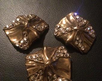 LUIGI BRIGLIA fantastic vintage earring and beooch set, demi parure!