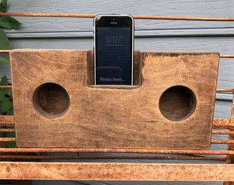Iphone Acoustic Speaker, Wooden Iphone Amplifier, Natural Acoustic Speaker, Portable Hand Made Wooden Acoustic Speaker, Iphone Amplifier