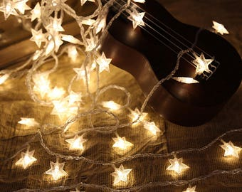 4 m (13.1 ft.) Battery Powered Star String Lights