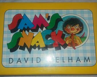 Sam's snack by David Pelham. Rare vintage pop up book.