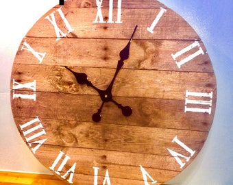 Wooden clocks Etsy