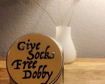 Harry Potter | Give Socks - Free Dobby | Lost Socks Container | Laundry Room Organizer | Gift