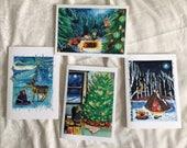 Christmas yule cards