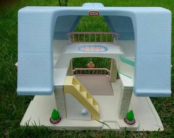 Vintage Blue Roof Little Tikes dollhouse