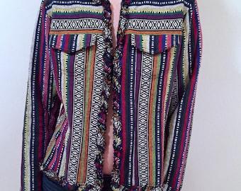 Groovy 70s  Vintage Striped Blazer by Chicos