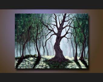 Landscape Tree Painting, Acrylic Landscape Painting, Tree Art, Canvas Art, Painting, Artwork, Fine Art, Wall Art, Original Art 18 x 24