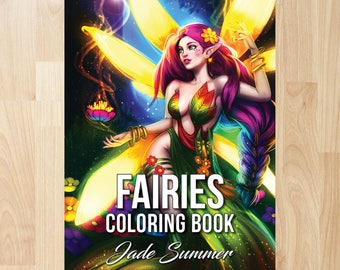 Fairies Coloring Book by Jade Summer
