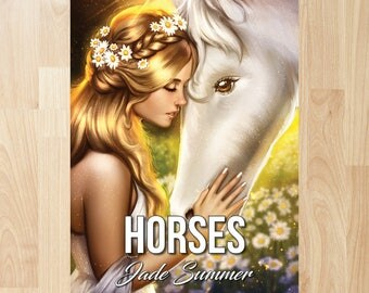 Horses by Jade Summer (Coloring Books, Coloring Pages, Adult Coloring Books, Adult Coloring Pages, Coloring Books for Adults)