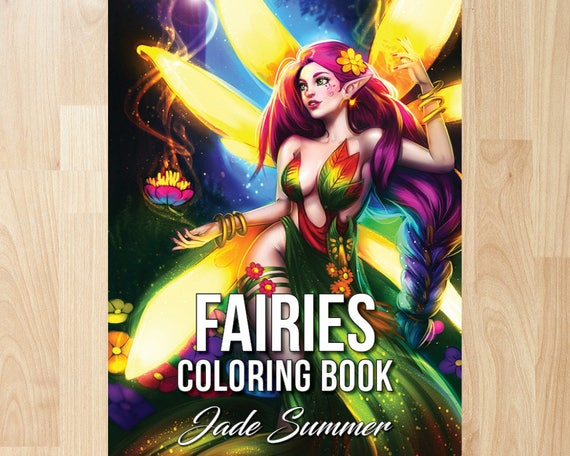 fairies coloring book by jade summer coloring books coloring pages adult coloring books adult coloring pages coloring books for adults - Fairy Coloring Books For Adults