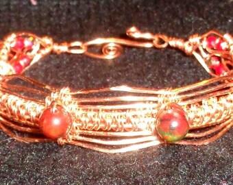 Copper & Jade Bracelet