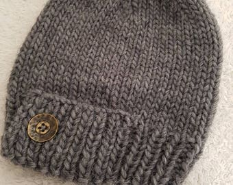 Hat in chunky wool - handmade - cosplay Game of Thrones Winterfell