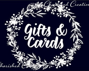 Gifts and Cards Wedding Sign, Midnight Blue Gifts and Cards Sign *INSTANT DOWNLOAD*