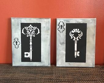 8x10 Key canvas painting set