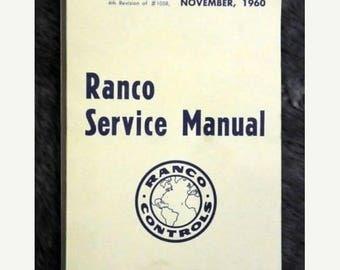 S 1960 Ranco Service Manual (No. 1058)