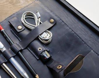 Business folder, leather folder, leather workbook, leather portfolio, workbook, iPad Case, portfolio, notebook, FREE MONOGRAM