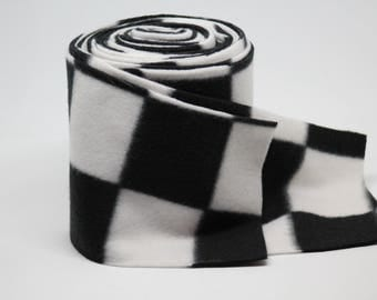 Black & White Checker Polo Wraps - Made to Order